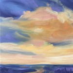 Suzanne Winn Sunset I Wychwood Art Original Landscape Painting