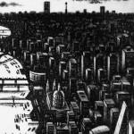 Thames Bridges Dusk Etching 61 x 46 cm (24 x 18 inch) detail 3 Wychwood Art