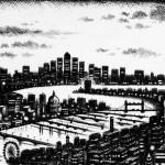 Thames Bridges East Etching 2015 61 x 46 cm (24 x 18 inch) detail 1 Wychwood Art