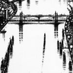 Thames Bridges East Etching 2015 61 x 46 cm (24 x 18 inch) detail 2 Wychwood Art