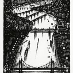 Thames Bridges – Looking East Etching 38 x 25 cm (15 x 10 inch)