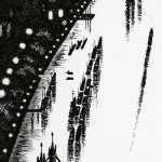 Thames Bridges – Looking East Etching 38 x 25 cm (15 x 10 inch) detail 3 Wychwood Art