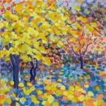 'Yellow Maple' Original Painting 30 x 30 by Rosemary Farrer WychwoodArt.jpeg