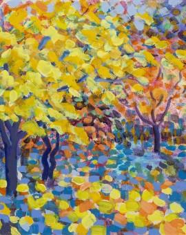 'Yellow Maple' Original Painting 30 x 30 by Rosemary Farrer WychwoodArt.jpeg