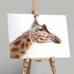 giraffe on easel