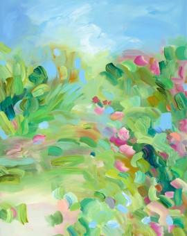 Alanna Eakin Smell The Greens Wychwood Medium Framed Abstract