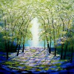 Amanda Horvath Bird Cherry Glade    Landscape Painting, Impressionist Art, Affordable Contemporary Painting