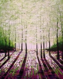 Amanda Horvath Rosebay Glade Landscape Painting, Impressionist Art, Affordable Contemporary Painting