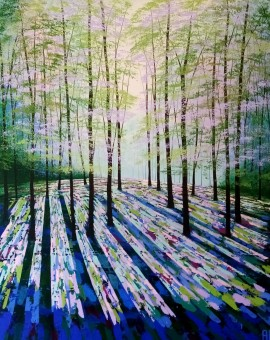 Amanda Horvath Summer Sanctuary Landscape Painting, Impressionist Art, Affordable Contemporary Painting