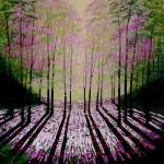 Amanda Horvath Wild Wood Rose Landscape Painting, Impressionist Art, Affordable Contemporary Painting