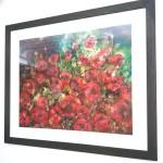 Ann Bridges (on the wall) Late summer sunshine (poppies)