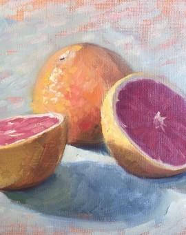 Benedict Flanagan, Grapefruit, Still life