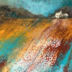 Cathryn Jeff Ochre & Teal Glow Wychwood Art