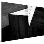 Cristian Stefanescu - Monochromatic #05- Abstract Geometry, Black and White Photography - SideView