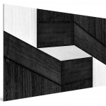 Cristian Stefanescu - Monochromatic #10 - Abstract Geometry, Black and White Photography - SideView