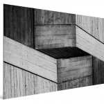 Cristian Stefanescu - Monochromatic #11 - Abstract Geometry, Black and White Photography - SideView