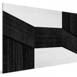 Cristian Stefanescu - Monochromatic #12 - Abstract Geometry, Black and White Photography - SideView