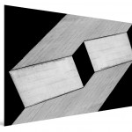 Cristian Stefanescu - Monochromatic #17 - Abstract Geometry, Black and White Photography - SideView