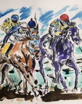 Garth Bayley. Anyones Race.Wychood art. Full