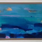Gold Cloud Blue Sea 24.5×35.5 framed