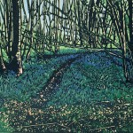 Jennifer Jokhoo Emerald forest reduction linocut