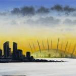 London Panorama – Greenwich Shoreline 30 x 120 cm (12 x 39 inch) detail 1 Wychwood Art