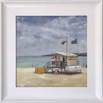 Marie Robinson Lifeguards framed-Wychwood Art