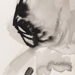 Mary Knowland Looking Over,Original Figurative Drawing, Detail Head