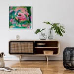 Rosewater Alanna Eakin Framed painting in situ floral abstract