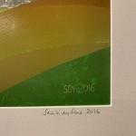 Sarah du Feu Corn and Clouds 2 signature Wychwood Art