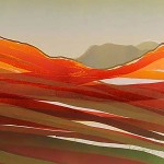 Sarah du Feu Langdale Pikes in the Distance 2 detail 1 Wychwood Art copy