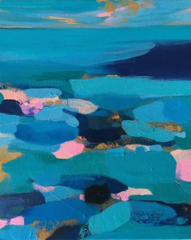 Springtides and Blue Sea 30.5x40.5cm