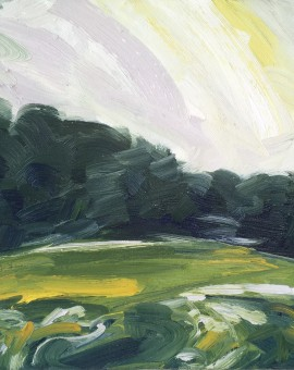 Suzanne Winn Spring Fields II Wychwood Art Original Landscape Painting