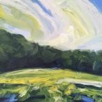 Suzanne Winn Spring Fields IV Wychwood Art Original Landscape Painting