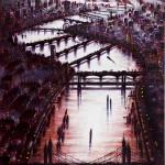 Thames Bridges East Oil 2014 102 x 76 cm (40 x 30 inch) Wychwood Art