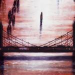 Thames Bridges East Oil 2014 102 x 76 cm (40 x 30 inch) detail 2 Wychwood Art
