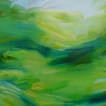 The Chase Detail Alanna Eakin Green Abstract Landscape