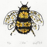 Vicky Oldfield, Bee, Screen print, Contemporary art, bee picture