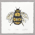 Vicky Oldfield, Bee, Screen print, Contemporary art, bee picture b