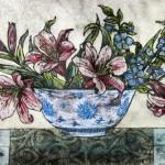 Vicky Oldfield, Bowl of lilies,  Wychwood Art, Original Print,  Royal Academy Summer Exhibition Artist