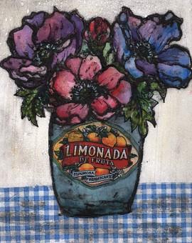 Vicky Oldfield, Fresh Blooms, Wychwood Art, Original Print, Royal Academy Summer Exhibition Artist