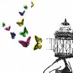 freedom_framed_birdcage_butterflies_running_mentalhealth_screenprint_katie_edwards_illustration copy