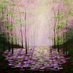 Amanda Horvath Midsummer Hope Landscape Painting, Impressionist Art, Affordable Contemporary Painting