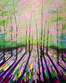 Amanda Horvath Spring of Life Landscape Painting, Impressionist Art, Affordable Contemporary Painting