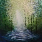 Amanda Horvath Timeless Tranquility Landscape Painting, Impressionist Art, Affordable Contemporary Painting