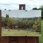 Benedict Flanagan, Hilly Fields 2, Cityscape Painting 2