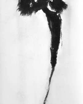 Brigitte Bardot , 2020, Large Edition of 10, black glitter and charcoal screenprint, 150 x 60 cm, Rosie Emerson