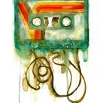 Cassette, GDobson, Screenprint