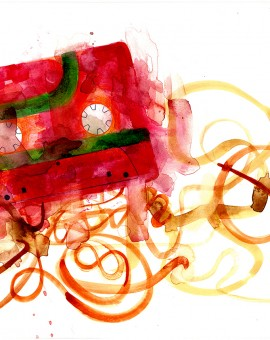 CassetteRed, GDobson, Screenprint