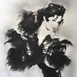 Detail Detail Brigitte Bardot , 2020, Large Edition of 10, black glitter and charcoal screenprint, 150 x 60 cm, Rosie Emerson